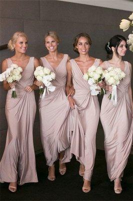 Elegant V-neck Sexy Bridesmaid Dresses Cheap Long Party Dress for Maid of Honor BA7824_1