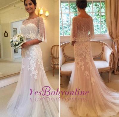 Sweep-Train Tulle Mermaid Sweetheart Sexy Applique Wedding Dresses_1