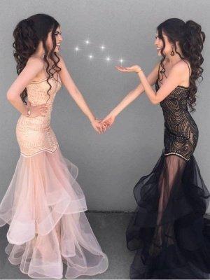 Sexy Sheath V-neck Spaghetti Straps Prom Dress |  See Through Skirt Evening Dress_1