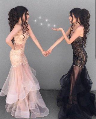 Sexy Sheath V-neck Spaghetti Straps Prom Dress    See Through Skirt Evening Dress_3