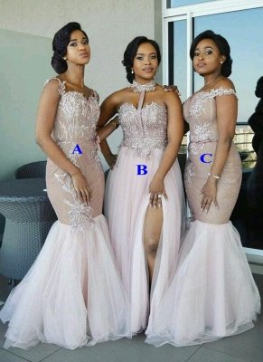 Sexy Pink Tulle Bridesmaid Dresses | Multi Styles Wedding Party Dresses_1