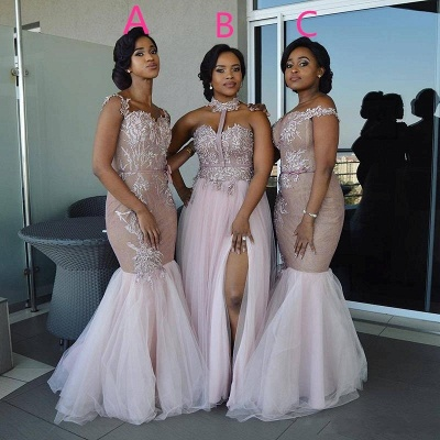Sexy Pink Tulle Bridesmaid Dresses | Multi Styles Wedding Party Dresses_3