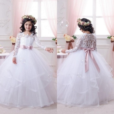 Ball-Gown Lace-Appliques Long-Sleeves Flower-Girl-Dresses_3