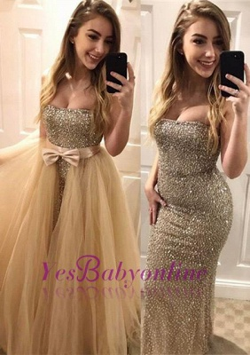 Sweetheart Gorgeous Bodycon Beads Sleeveless Evening Dress_2
