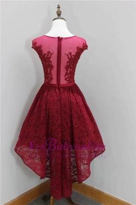 Short Beadings Appliques Lace Hi-Lo Elegant Sleeveless Homecoming Dress_3