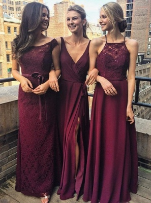 Special Design Bridesmaid Dresses | Long Chiffon Lace Wedding Party Dresses_3