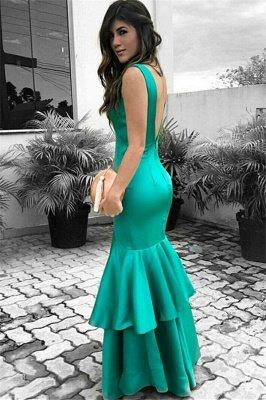 Sexy Cheap Sleeveless Evening Dresses | Ruffles Open Back Prom Dresses_4