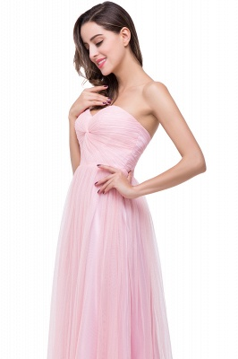 Ruffles  A-Line Simple Sweetheart Evening Gowns_5