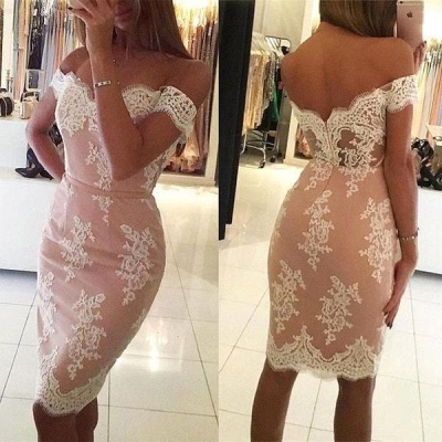Sheath Mermaid Homecoming Dresses | Off-the-Shoulder Short Cocktail Dresses_3