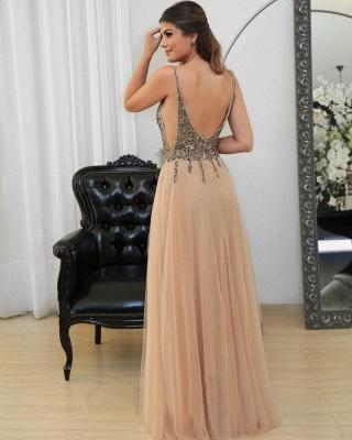 Floor-length Straps Sexy Spaghetti Long Prom Dresses_4