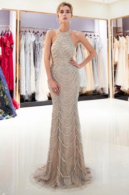 Mermaid Halter Sleeveless Sequined Long Prom Dress | 2019 Evening Dress_2
