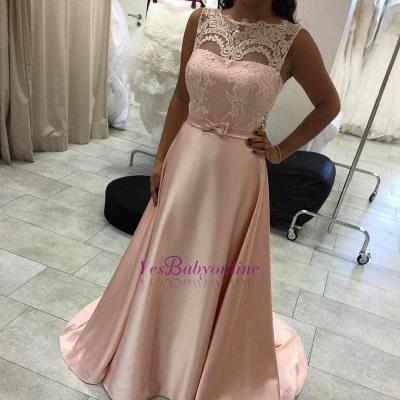 Lace Elegant Long Sleeveless A-Line Evening Dress_1