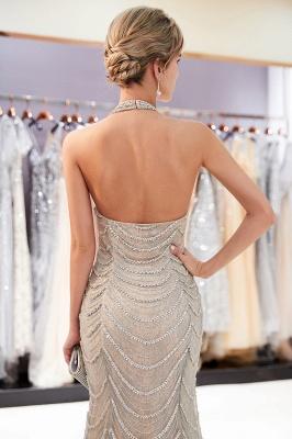 Mermaid Halter Sleeveless Sequined Long Prom Dress | 2019 Evening Dress_5