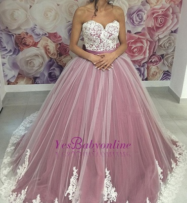Dresses Ball Prom Sweetheart Sleeveless pink Long Gown Evening Dresses_4