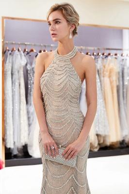 Mermaid Halter Sleeveless Sequined Long Prom Dress | 2019 Evening Dress_4