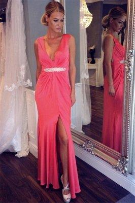 Sexy V-neck Back Evening Dresses | Sheer  Sleeveless Prom Dresses_2