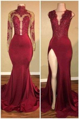 Mermaid Sweep Train Evening Dresses | Luxury Lace Appliques Long Prom Dresses_2
