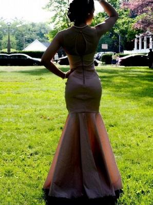 Zipper Pink Sleeveless Mermaid Long Sexy Prom Dresses_3