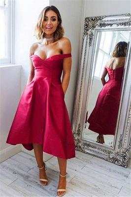 Sexy Hi-lo Evening Dresses | Off-the-shoulder Cheap Prom Dresses_2