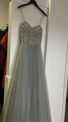 Beads  Spaghetti-Strap Newest Sleeveless A-line Prom Dress_3