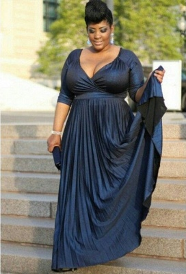 Of A-line Mother V-neck Half-Sleeve Plus-Size Sexy the Long Bridal Dress_2
