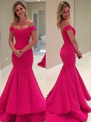 Sexy Off-the-Shoulder Prom Dresses | Long Mermaid Evening Dresses_2