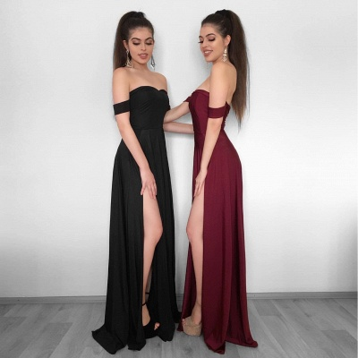 Sexy High Slit Evening Gowns | Off-the-Shoulder Formal Dresses_3
