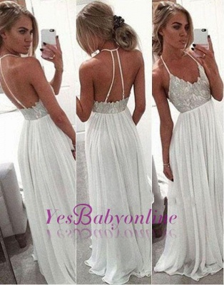 Backless  Long Halter-Neck Sexy Prom Dresses_1