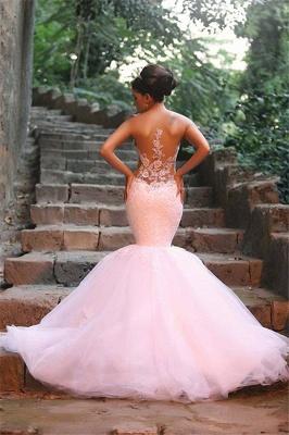 Glamorous Lace Beaded Wedding Dresses   Sexy Mermaid Tulle Bridal Dress WE0010_6