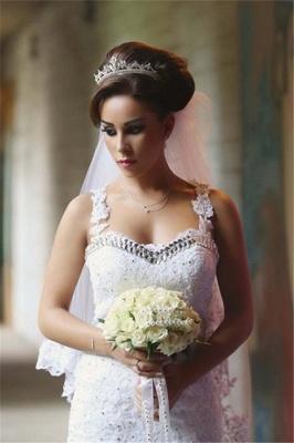 Glamorous Lace Beaded Wedding Dresses   Sexy Mermaid Tulle Bridal Dress WE0010_4