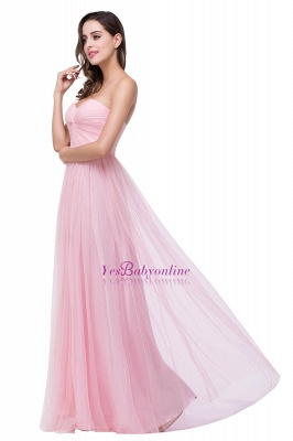 Ruffles  A-Line Simple Sweetheart Evening Gowns_1
