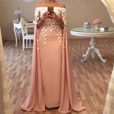 Long Designer Appliques Flowers Glamorous Floor-Length Prom Dress_3