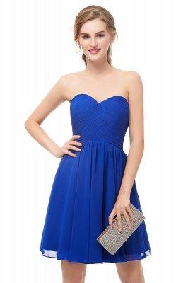 Royal-Blue Summer Sweetheart-Neck Short Cocktail Dresses_2