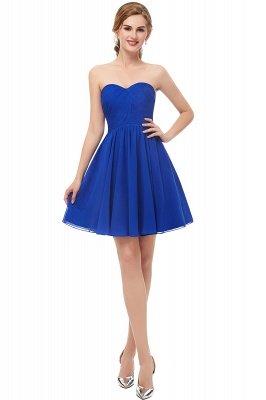 Royal-Blue Summer Sweetheart-Neck Short Cocktail Dresses_1