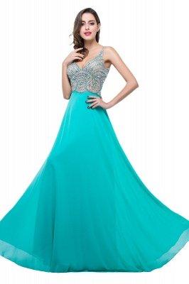 2019 Sexy Open-Back A-Line V-Neck Sleeveless  Crystal Prom Dress_6