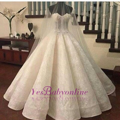 a049e388ef Gorgeous Ball Gown Wedding Dresses Sweetheart Neck Lace Ruffles Bridal Gowns   Item Code  D153413444420518
