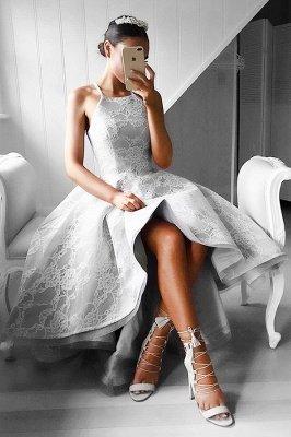 Hi-Lo Halter Sleeveless Elegant Lace A-line Prom Dresses_2