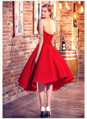 Red Cocktail-Dresses Chic Sweetheart-Neck Hi-Lo Short Party Dresses_6