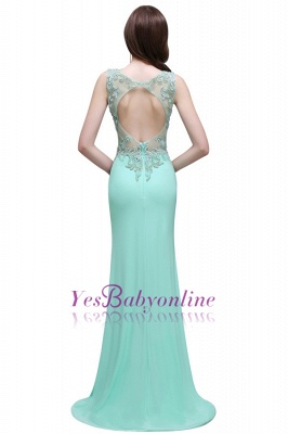 Sleeveless Backless See-Through Sweetheart Long Floor-Length Evening Gown_3