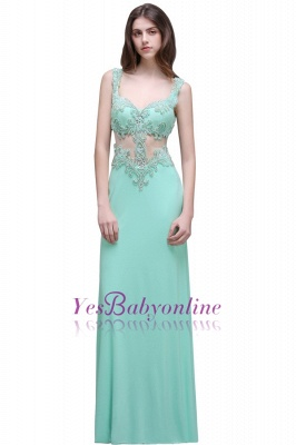 Sleeveless Backless See-Through Sweetheart Long Floor-Length Evening Gown_2
