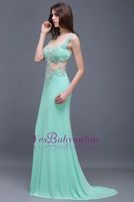 Sleeveless Backless See-Through Sweetheart Long Floor-Length Evening Gown_4