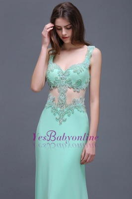 Sleeveless Backless See-Through Sweetheart Long Floor-Length Evening Gown_5