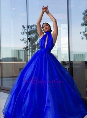 Luxurious Royal-Blue Prom Dresses    High-Neck Evening Dresses_3