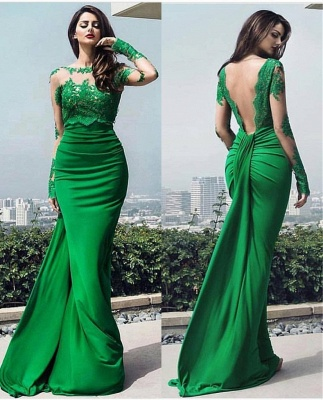 dresses long prom chic Elegant lace prom dresses_4