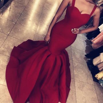 Sexy Sweetheart Mermaid Prom Dresses   Sleeveless Open Back Evening Dresses_5