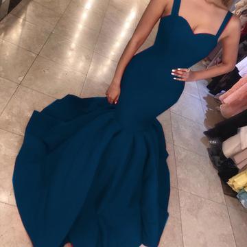 Sexy Sweetheart Mermaid Prom Dresses   Sleeveless Open Back Evening Dresses_4