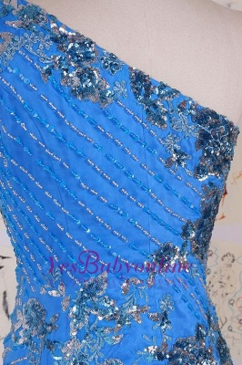 Sleeveless Crystal Sexy Long One-Shoulder Mermaid Evening Gowns_4