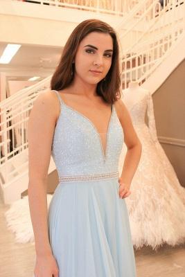 Sleeveless Spaghetti-Strap Beads Elegant A-line Prom Dress_3