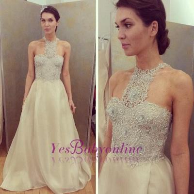 Cheap Sleeveless Designer Long Lace Appliques Beadings Glamorous Prom Dress_1