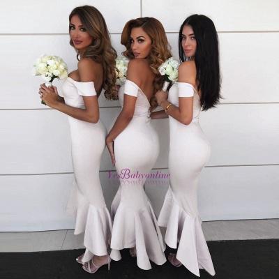 Modern Hi-Lo Mermaid Bridesmaid Dresses | Chic Simple Sleeveless Wedding Party Dresses_1